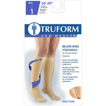 TRUFORM 8865BL Compression Socks 20-30 mmHg Below-knee, Closed-toe, black S-M-L-XL