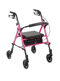 Breast Cancer Awareness Adjustable Height Rollator, Pink (RTL10261BC)