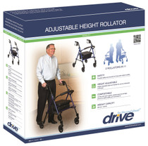 """Drive RTL10261BL Adjustable Height Rollator with 6"""" Wheels, Blue"""