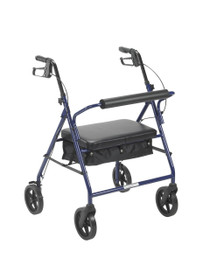 "Drive 10216BL-1 Bariatric Rollator with 8"" Wheels, Blue (10216BL-1)"