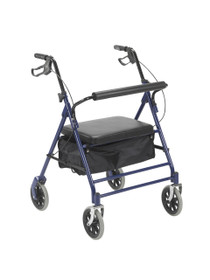"Drive 10252BL Bariatric Rollator with 7.5"" Wheels, Blue (10252BL)"
