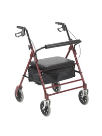 "Drive 10252RD Bariatric Rollator with 7.5"" Wheels, Red"