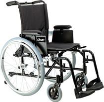 "Drive AK516ADA-AELR Cougar Ultra Lightweight Rehab Wheelchair, Elevating Leg Rests, 16"" Seat"