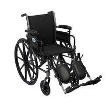 """Drive K316ADDA-ELR Cruiser III Light Weight Wheelchair with Flip Back Removable Arms, Adjustable Height Desk Arms, Elevating Leg Rests, 16"""" (K316ADDA-ELR)"""