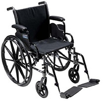 """Drive K316DFA-SF Cruiser III Light Weight Wheelchair with Flip Back Removable Arms, Full Arms, Swing away Footrests, 16"""" Seat (K316DFA-SF)"""