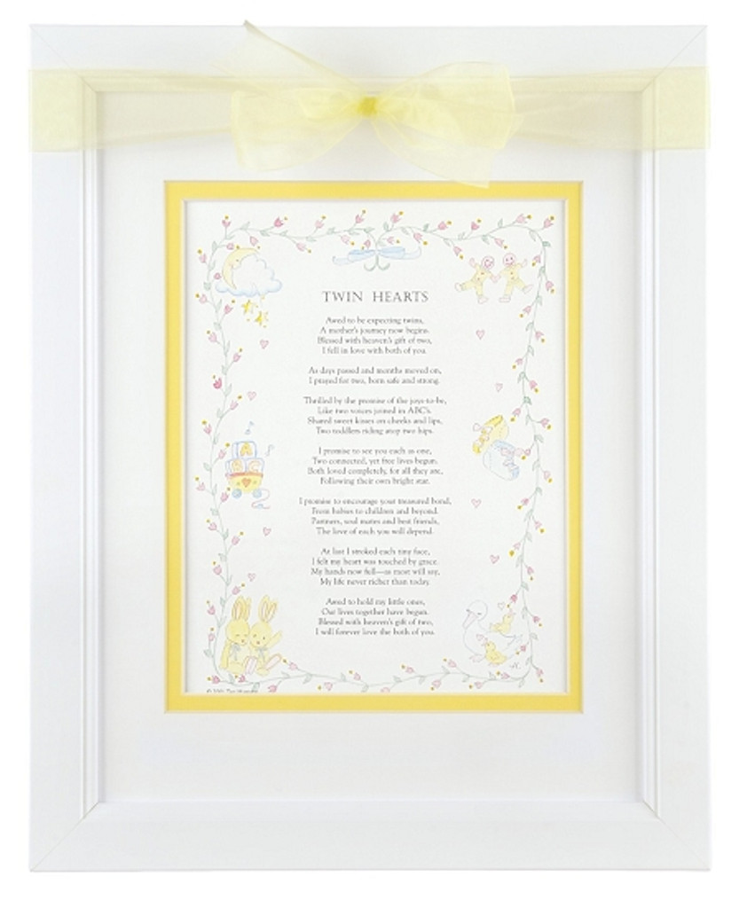 Twin Hearts Picture Frame with Poem