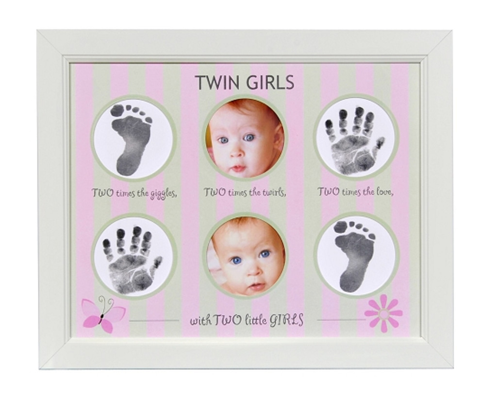 Handprint Frame for Twin Girls