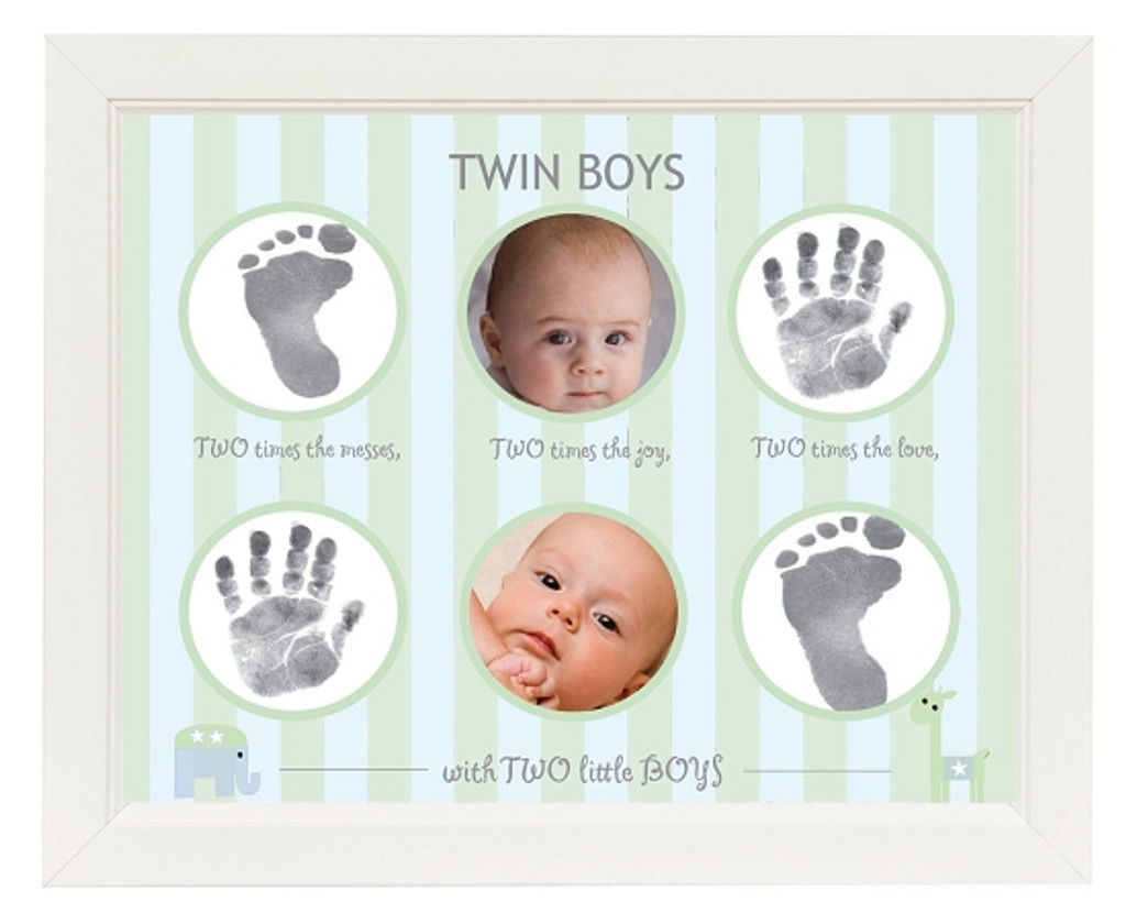 picture frame for twin boys