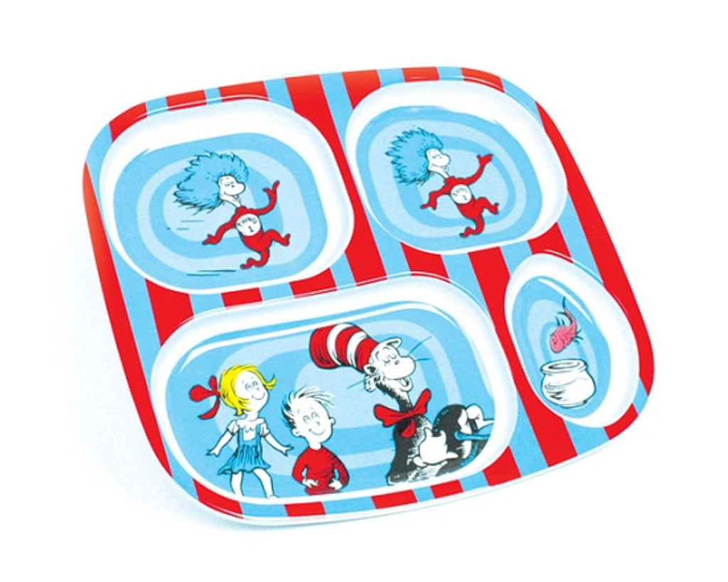 Dr. Seuss Melamine Divided Plates