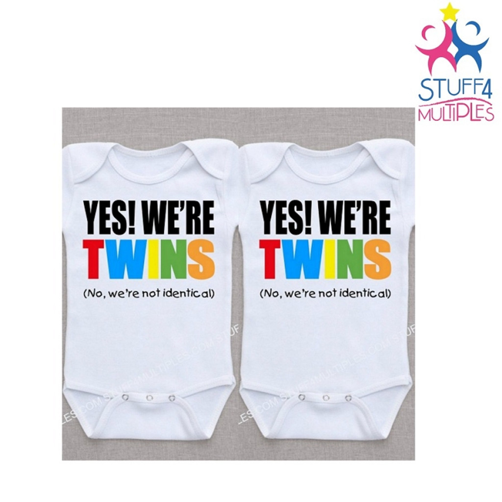 Yes, we're twins. No we're not identical (or yes, we're identical) Shirt Set