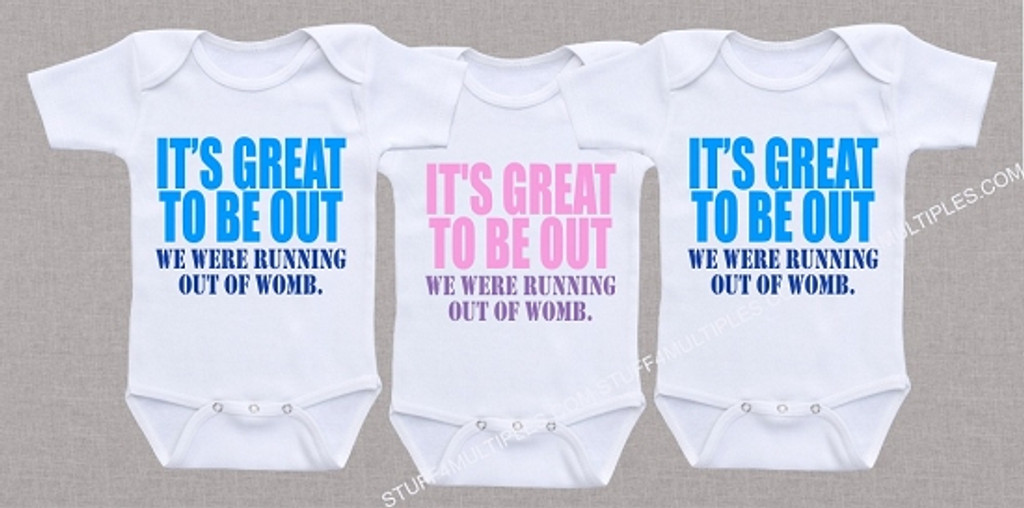 We were running out of womb triplet shirt set stuff 4 multiples we were running out of womb triplet shirt set negle Choice Image