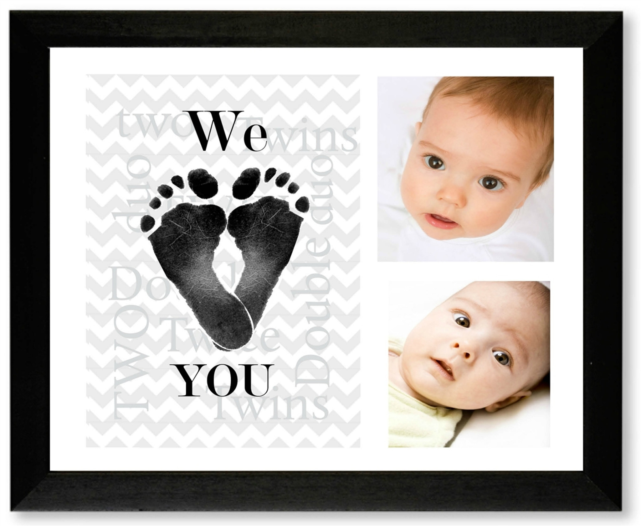 Twins Footprint Picture Frame