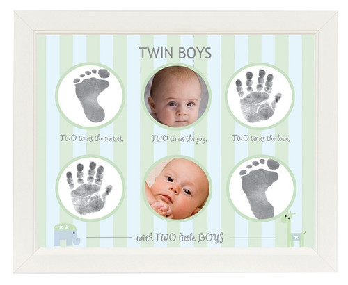 Picture Frame with Twin Hand Prints