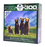 Bear Cubs Standing (Large Piece Puzzle)