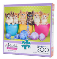 Kittens in Cups (300 Large Piece Puzzle)