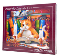 The Literate Cat 1000-Piece Jigsaw Puzzle