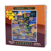 Lombard Street Jigsaw Puzzle by Eric Dowdle