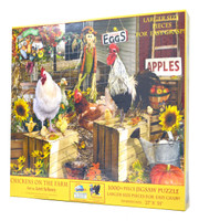 Chickens on the Farm (Large Piece Jigsaw Puzzles)