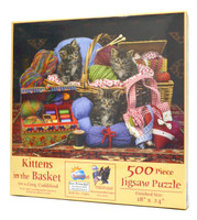 Kittens in the Basket Jigsaw Puzzle