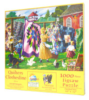 Quilters Clothesline Jigsaw Puzzle by Joseph Burgess