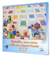 Spools Jigsaw Puzzle by Rebecca Barker