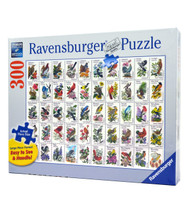 50 Bird Stamps (300 Large Piece Puzzle)