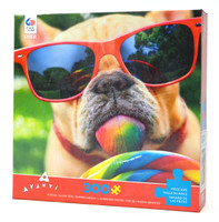 Dog with Lollipop Large Piece Puzzle