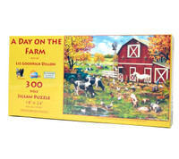 A Day on the Farm Large Piece Jigsaw Puzzle
