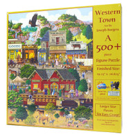 Western Town 500-Piece Large Piece Jigsaw Puzzle