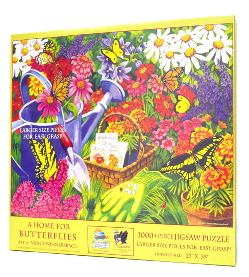 A Home For Butterflies Large Piece Puzzle