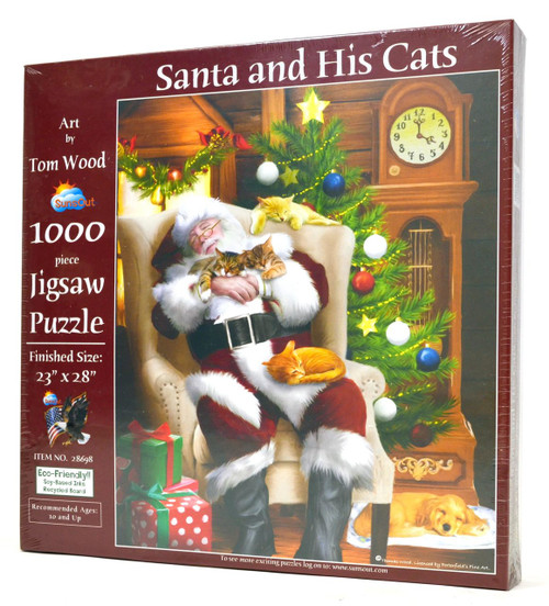 Santa and His Cats puzzle
