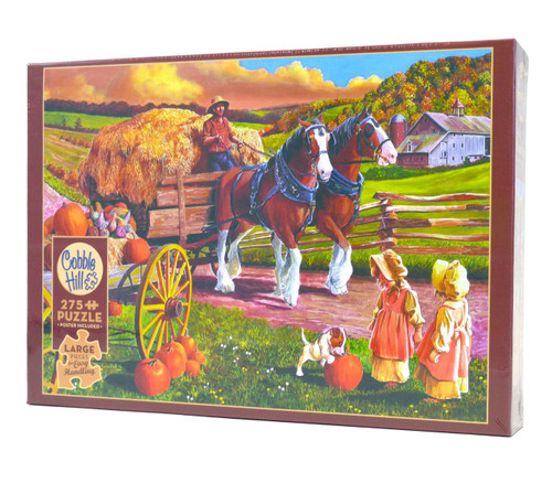Hay Wagon Large Piece Puzzle