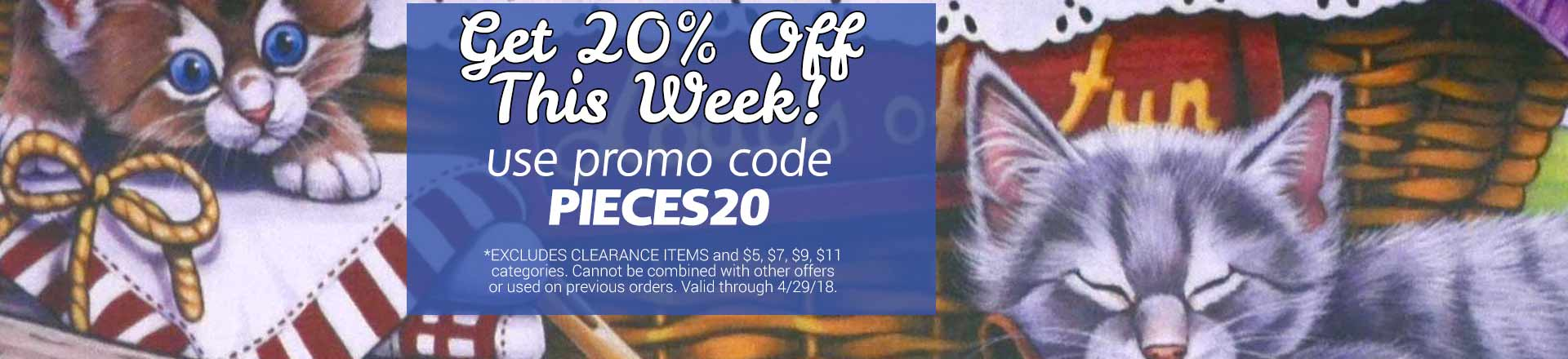 Save 20% on Jigsaw Puzzles