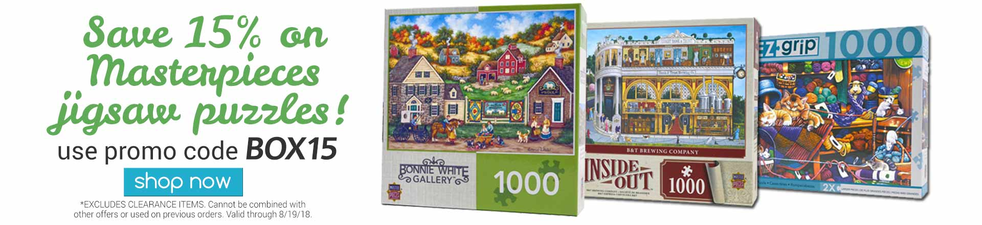 Save on Masterpieces Puzzles