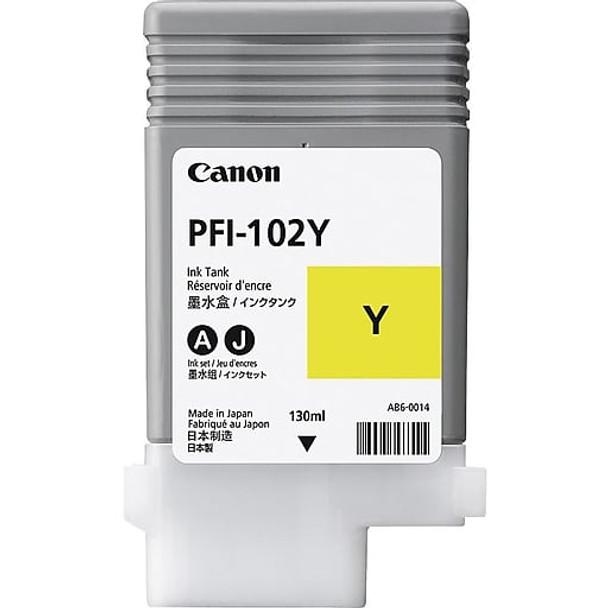 Canon PFI 102Y - Yellow Ink Tank 130ml (CIPFI102Y)
