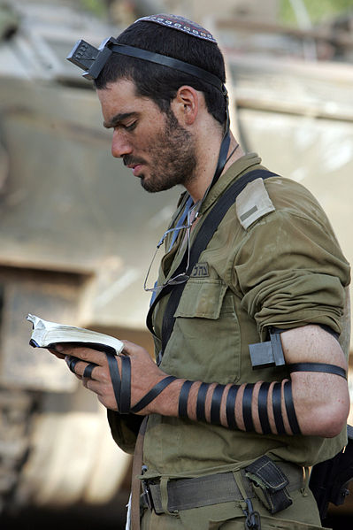 Tefillin in action