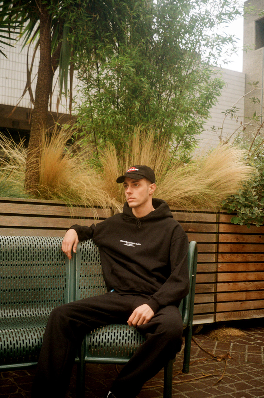 Black Hoodie With Embroidered UK Born Logo