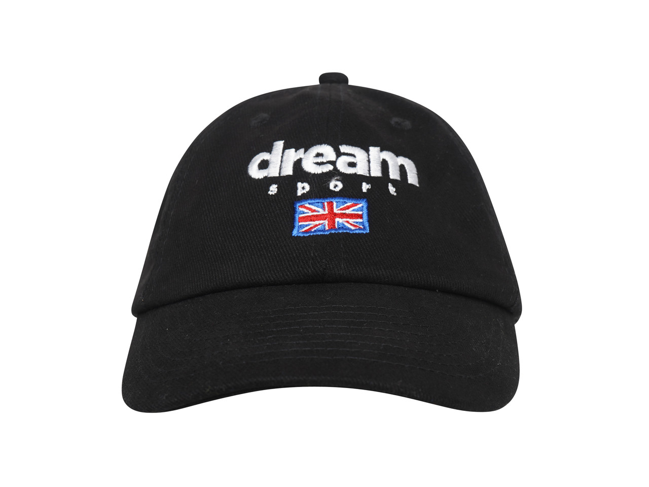 Black Cap With Dream Sport Embroidered Logo