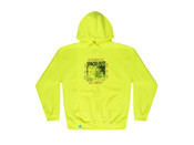 Safety Green Hoodie With Spaced Out! Design