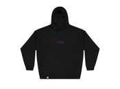 Black Hoodie With Violet Dream Embroidery