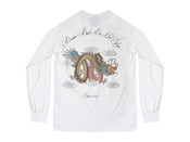 Chinese Dragon Design On A White Long Sleeved T-shirt