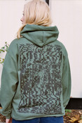 Military Green Hoodie With Printed 'The End Is Near' Design