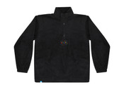 Black Fleece With Be Happy Embroidered Design