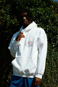 White Hoodie With Super Soaker Print