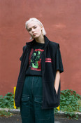 Black Fleece Gilet With Psychedelic Transformations Embroidery