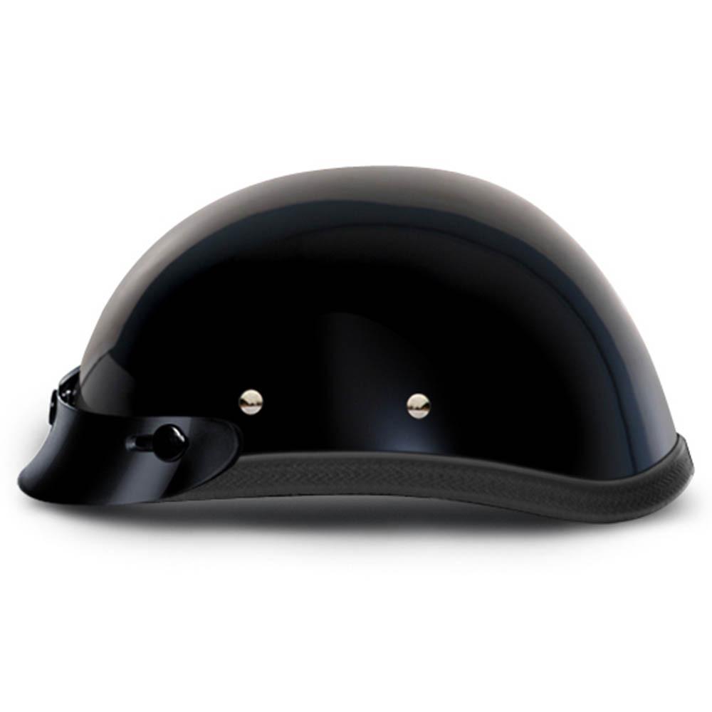 Black Novelty Motorcycle Helmet with Snaps and Visor by Daytona XS S M L XL 2XL