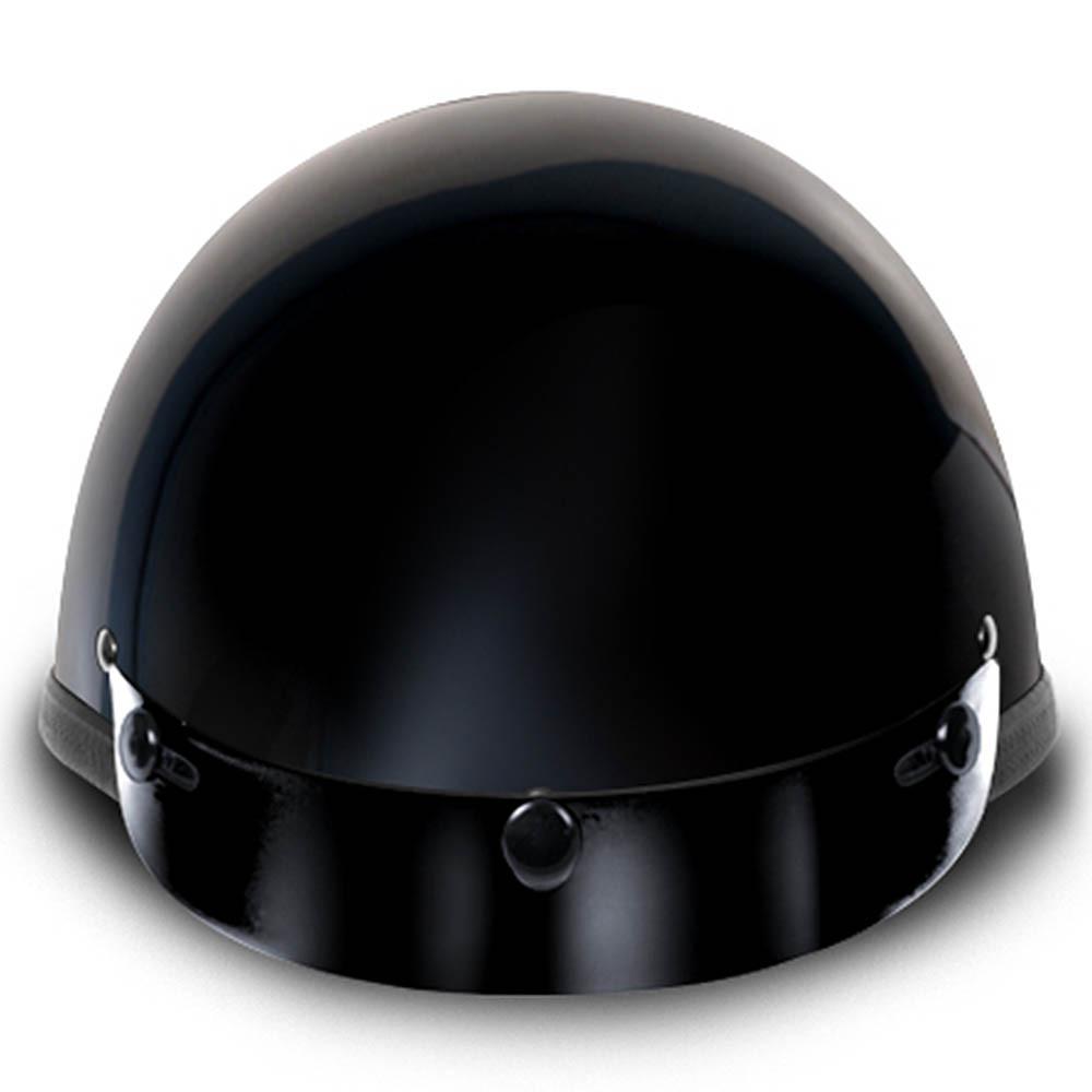 Gloss Black Smokey w Visor Novelty Motorcycle Helmet by Daytona Helmets XS-2XL