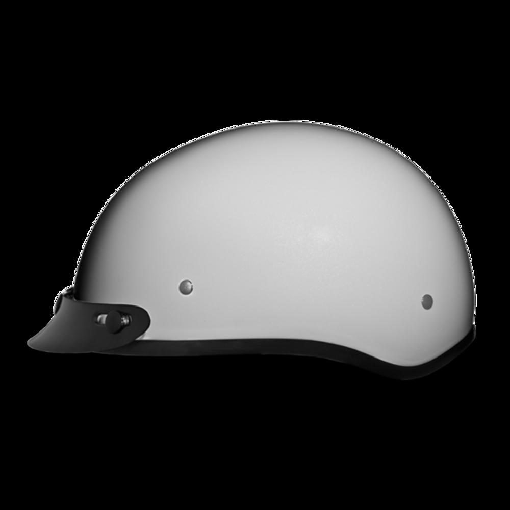 D.O.T. DAYTONA SKULL CAP- PEARL WHITE