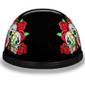 Novelty Helmet - Rose Skulls by Daytona - 6002RS