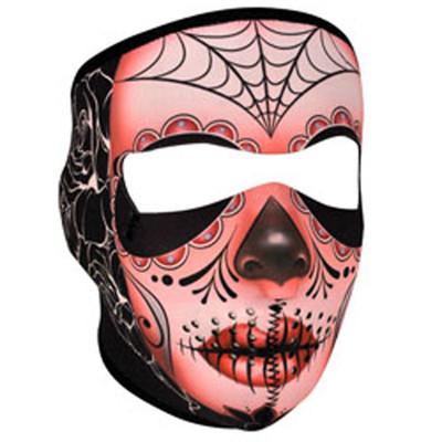 Neoprene Face Mask | Motorcycle Face Mask | Fleece Liner - Sugar Skull - WNFL091